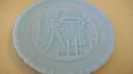 BLUE FENTON RAISED DETAIL COLLECTOR PLATE, PROCLAIM LIBERTY THROUGHOUT f... - $22.27