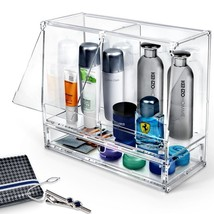 Clear Organizer for Men Perfume Cologne Acrylic Mens Gift Accessories Case - $126.67 CAD