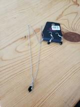 989 Silver W/ Black Gems Necklace Set (New) - $7.61