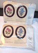 2 Floral Kits ROMANTIC ROSES and ELEGANT IRIS Creative Circle NEW Oval F... - $31.67