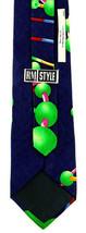 DNA Helix Men's Neck Tie Ralph Marlin Science Biology Classic Silk Blue Neck Tie image 2