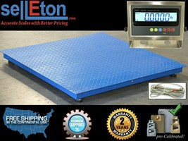 """40"""" x 40"""" Floor scale / Pallet size / SS indicator 5,000 x 1 lb - $870.19"""