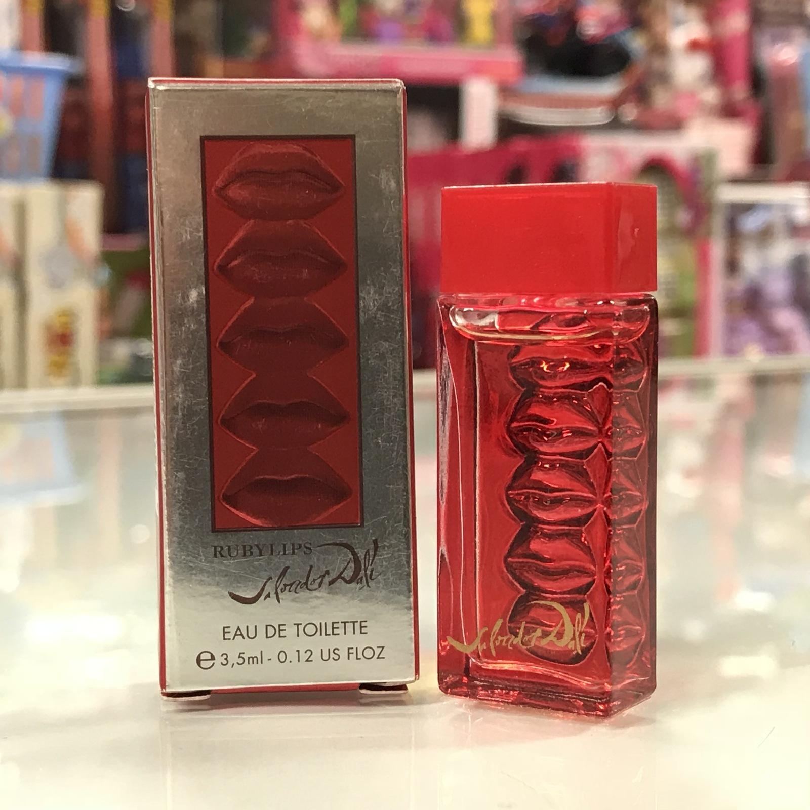 Ruby Lips by Salvador Dali for women Vintage Classic Fragrance, 0.12 oz, splash image 3