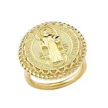 10K Yellow Gold Saint Benedict Womens Ring - $449.99
