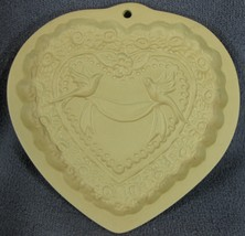 Brown Bag Cookie Art Heart with Doves Mold Hill Design 1985 - $17.95