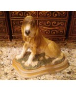"""Vintage Resin Hound Dog Statue Molded Figure 6.5"""" x 7"""" x 4"""" Realistic Lo... - $10.88"""