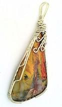 Pilbara Jasper Nickel Silver Wire Wrap Pendant 30 - $27.90