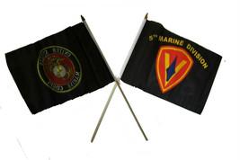 "12x18 12""x18"" Wholesale Combo Marine Black & 5th USMC Marine Division St... - $22.00"