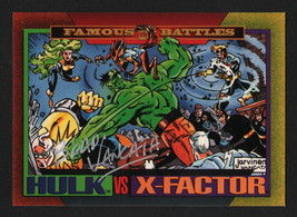 Brad Vancata SIGNED 1993 Marvel Universe Art Card Hulk Vs X-Factor - $14.84