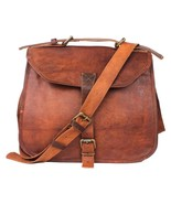 """New Man's 12"""" Unisex Brown Vintage Soft Rustic Leather Sling Travel Sale... - $67.75"""
