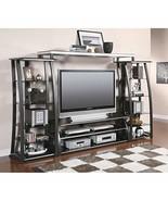 Coaster Contemporary Matte Black TV Console with Shelves - $276.00