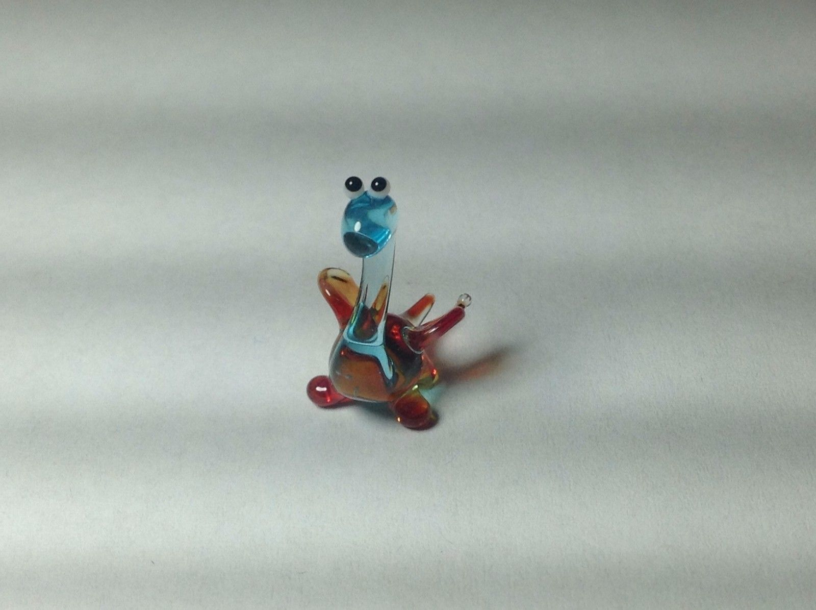 Miniature Glass tiny baby dragon hatchling  Handmade Blown Glass Made USA