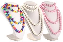 50s Retro Pop Beads Variety Fun Pack - 1 Bag Each Rainbow, Pink, & White... - $12.99
