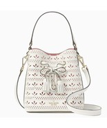 Kate Spade Hayes Street Small Drawstring Top Handle Bucket Bag $349 Whit... - $127.71