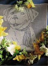 Best Friend Dog Canine Shepherd Labrador Retriver Crochet Wall Hanging P... - $6.99