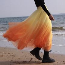 OLIVE GREEN Full Tulle Skirt Green Tie Dye Long Tulle Skirt High Waisted A Line  image 8