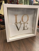 Framed With Glass Front Wall Hanging Love Home Decor Kitchen Bathroom Fa... - $12.45