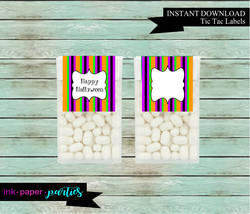 Printable Halloween Candy Mints Mint Party Favors ~ DYI ~ Instant Downlo... - $2.00