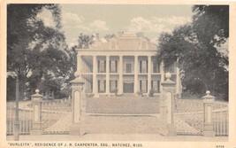 "NATCHEZ, MS Mississippi  ""DUNLEITH""~Residence of JN CARPENTER, ESQ 1930 ... - $3.96"