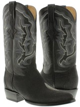 mens black real stingray skin diamond stone leather western cowboy boots... - £191.03 GBP