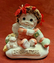 Vintage Cast Art Dreamsicles Baby's 1st Christmas Signed Kristin 1994