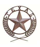 TEXAS STAR Wall Plaque Western Americana Metal Sculpture - $34.60