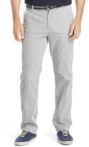 NWT Izod  36X34 Plain Front Sandy Bay Seersucker Belted  Pants Midnight ... - $24.30