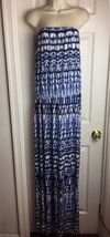 MLLE Gabrielle Strapless Printed Navy Jumpsuit Plus Size 3X - $24.95