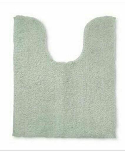 Fieldcrest Tufted Spa Contour Bath Rug Mat Mint Green NEW Super Soft 20 x 24