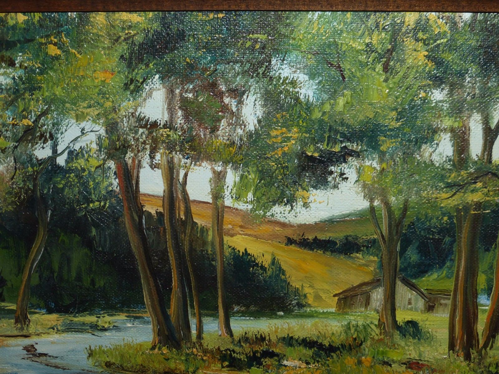 LISTED ARTIST RICHARD WEERS ORIGINAL SIGNED AND FRAMED OIL ON BOARD PAINTING