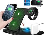 15W 4in1 Foldable Wireless Charging Dock For iPhones, Android and Apple Watch - £43.08 GBP
