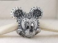 Pandora Sterling Silver Sparkling Disney Mickey  Portrait Charm