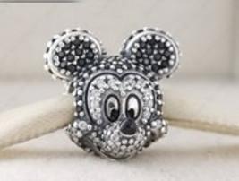 Pandora Sterling Silver Sparkling Disney Mickey  Portrait Charm - $45.00