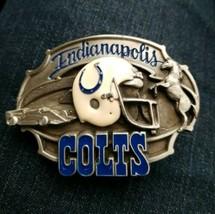 Vintage Indianapolis Colts Belt Buckle 1987 NFL Football Siskiyou Pewter... - $37.37