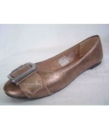 New Fossil Metalic Gold LEATHER Flats Ballet sz 5 5.5 6.5 Shoes - $32.00