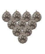 Pack of 10 Hand Painted Beautiful Floral Design Black & White Pumpkin Ce... - £20.95 GBP