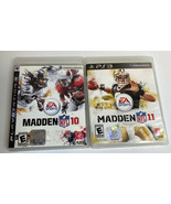 LOT OF 2 Madden NFL 10 & NFL 11  PS3 COMPLETE CIB Very Clean Discs - $8.88