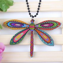 dragonfly necklace pendant acrylic  2015 news accessories spring summer cute des image 3