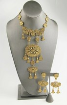 VINTAGE Jewelry ETRUSCAN REVIVAL RUNWAY STATEMENT NECKLACE & EARRINGS SET - $150.00