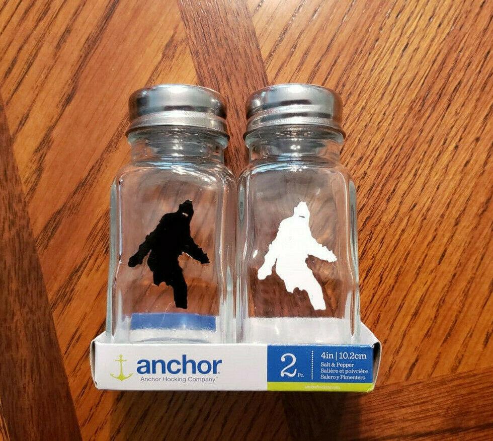 Bigfoot Salt and Pepper shakers - Custom Made Bigfoot S & P Shakers - Design 2 - $8.90