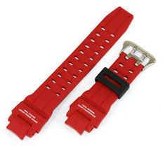 Casio 10475505 Genuine Factory Replacement Part Red Rubber Watch Band GA... - $38.95