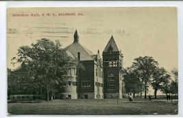 Northwestern University Memorial Hall Evanston Illinois 1909 postcard - $6.39