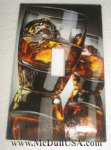 Whiskey on Rock Light Switch Duplex Outlet Cover Plate & more Home decor image 1
