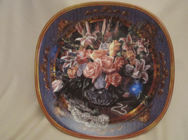 ROSES collector plate DREAMS TO GATHER Renee McGinnis FLORAL Bouquet LILY - $20.00