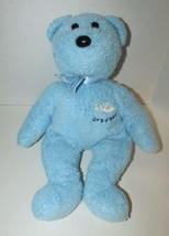 "2002 Ty Beanie Buddies 13"" Blue Bear plush Baby toy It's a Boy teddy fl... - $5.93"