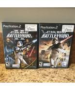 Star Wars Battlefront 1 & 2 I II Bundle (Sony PlayStation 2 PS2 Lot) *Co... - $29.02