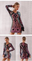 New Winter Sequined Celebrity Evening Runway Party Dress image 2