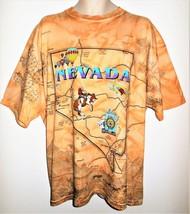 Vtg Nevada T Shirt Mens 2XL Southwestern Map Cactus Rodeo Desert Las Vegas USA - $18.99