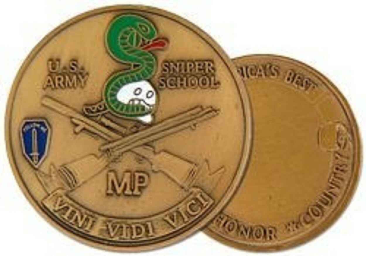 ARMY MILITARY POLICE MP SNIPER SCHOOL CHALLENGE COIN