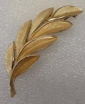 Trifari 1950s Gold tone pin/brooch leaf design - $34.00